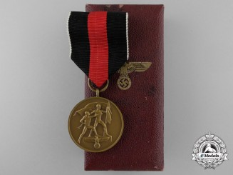 A German Oktober 1938 Commemorative Medal in Case of Issue