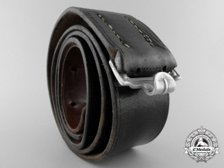A Black Leather Belt by Carl Henkel Bielefeld