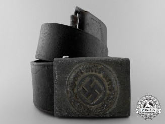 A German Police Enlisted Man's Belt with Buckle