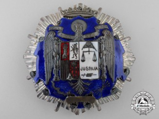 A Spanish Franco Period Order of Justice; Breast Star