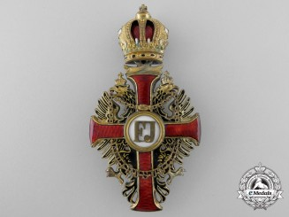An Austrian Order of Franz Joseph; Officer's Cross by Rozet & Fischmeister