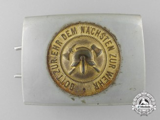 A Weimar Republic Volunteer Fire Defence Belt Buckle