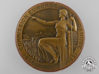 A French 75th Anniversary of the Founding of the European Danube Commission Medal 1856-1931