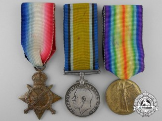A First War Medal Trio to Lieutenant Gibson; MM Recipient for Hill 70