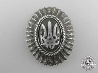 Ukraine. An Army Cap Badge, c.1941