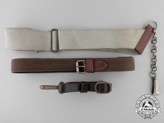 Two Second War Period German Straps and Belt