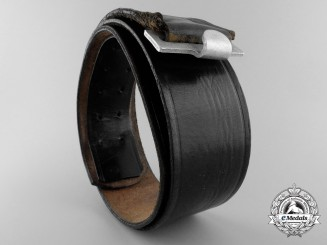 A German Black Leather Belt by Kernstuck 1937