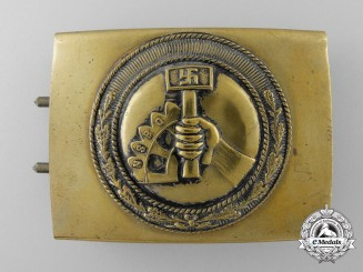 An NSBO (National-Socialistiche Betreibs Organisation) Belt Buckle; Published Example