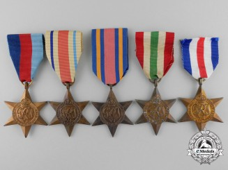 Five Second War Campaign Stars