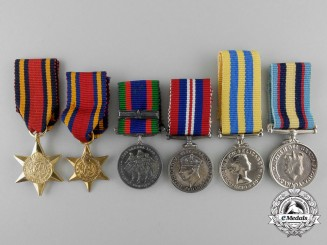 Six Second War & Korea Miniature Medals
