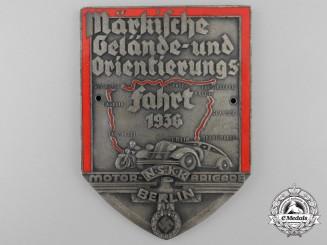 A 1936 NSKK Motor Brigade Berlin Plaque