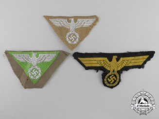 Three Second War German Cloth Insiginia