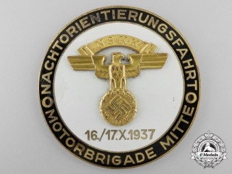 A 1937  NSKK Motor Brigade Night Event Plaque