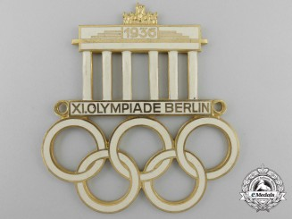 A 1936 Berlin Olympics Plaque by William Deumer
