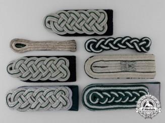 Seven Wehrmacht Shoulder Boards