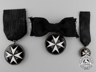 Three British Order of St. John Breast Badges