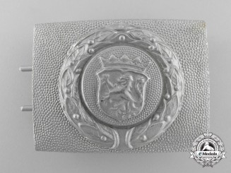 A Free State of Hesse Fire Defence Service Enlisted Man's Belt Buckle; Published Example