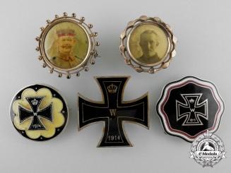 Five First War German Imperial Patriotic Badges