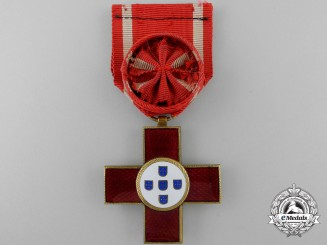 A Portuguese Red Cross Decoration; Officer's Cross