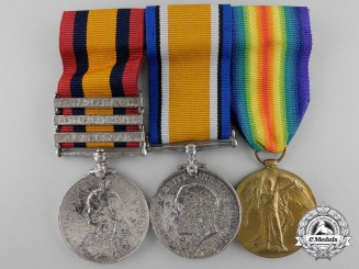 A South Africa and First War Medal Grouping to the Devon Regiment & Canadian Corps