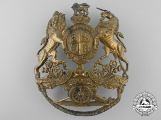 A Royal Canadian Artillery Helmet Plate c.1905 by Hicks & Sons London