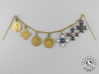 Prussia, State. A Franco War Period Miniature Award Chain