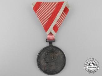 An Austrian First Class Silver Bravery Medal 1849-1916