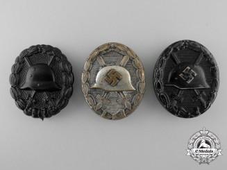 Three German Wound Badges
