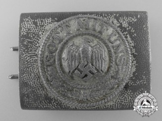 An Unusual German Army Zinc Belt Buckle by Assmann