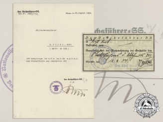 A 1934 SS Letter Naming Karl von Pichl Crew Leader of Section XVI