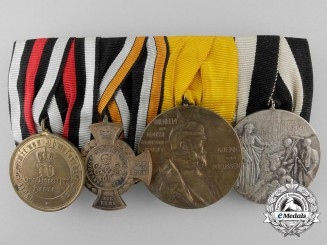A Franco Prussian War Medal Bar of Four Awards & Decorations