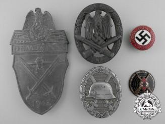 Five Second War Period German Badges, Awards, & Decorations