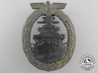 A Kriegsmarine High Seas Fleet Badge by Robert Souval