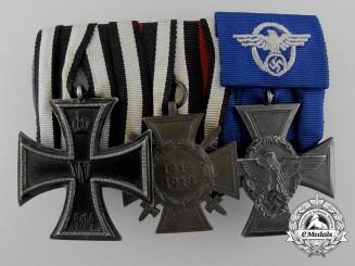 A First War & German Police Medal Bar