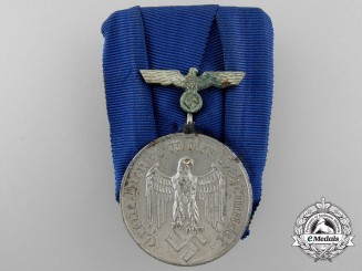 A German Army Long Service Medal; 4th Class for Four Years' Service