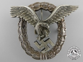 An Early Luftwaffe Pilot's Badge by Gebrder Wegerhof, Ldenscheid