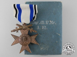 A Bavarian Military Merit Cross with Swords by Jacob Leser with Case