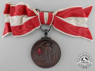 Netherlands, Kingdom. A Red Cross Merit Medal, Ladies Version, c.1950