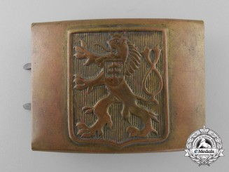 A Second War Czech Army Belt Buckle