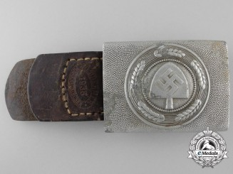 A RAD Enlisted Man's Belt Buckle with Tab by Gustav Brehmer