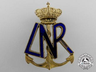 Romania, Kingdom. A First War Naval Officer's Badge