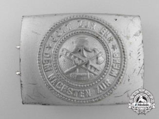 Weimar Republic. A Volunteer Fire Defence Service Belt Buckle
