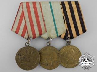 A Defence of Moscow Soviet Russian Three Piece Medal Group
