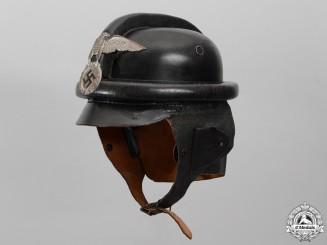 A 1st Pattern NSKK Crash Helmet by Eigentum NSKK-Motorbrigade Kurpfalz-Saar