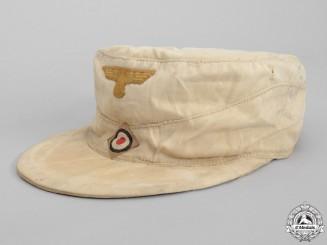 A German Tropical Kriegsmarine Cap; Named