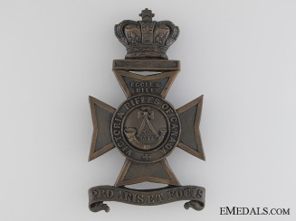 Victoria Rifles of Canada Helmet Plate