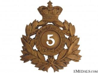 Victorian Era 5th Regiment of Foot Helmet Plate