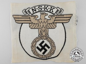 A Scarce NSKK (German National Socialist Motor Corps) Sport Shirt Insignia