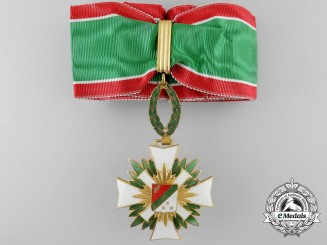 A Order of National Merit of Katanga; Commander's Badge by A. Chobillon, Paris