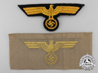 Two German Kriegsmarine Breast Eagles